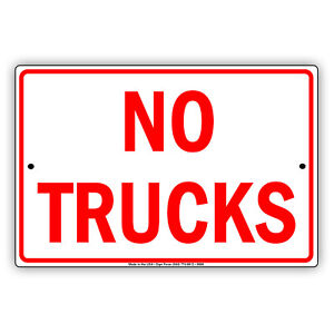 No Trucks In Driveway Towing Private Drive Novelty Notice Aluminum Metal Sign