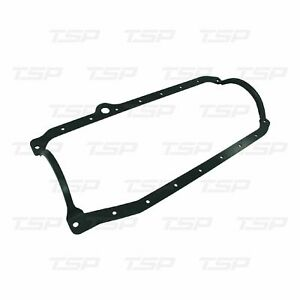 Small Block Chevy 1986 Up One Piece Oil Pan Gasket Passenger Side Dipstick Black