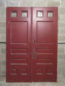 Antique Double Entrance French Doors 60 X 89 Architectural Salvage