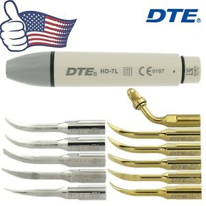 Us Woodpecker Dental Ultrasonic Scaler Handpiece Dte Hd 7l V2 V3 Led Tip Satelec