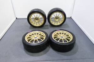 Jdm Used Ssr Type F In Gold Finish 18x8 5 48 Offset 5x114 Pcd Wheels For Sale