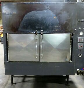 Ole Hickory Pit El ed x Bbq Smoker Natural Gas Rotisserie Oven Cooker A