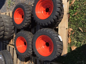 New 2019 Set Of 4 Bobcat S70 463 Tires And Wheels For Skid Steer Loaders