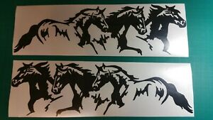 Horses Running Decal Large Vinyl Window Camper Rv Trailer Horse Graphic Sticker
