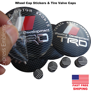 Trd Racing Wheel Cap Hub Stickers 2 20 Tire Valve Stem Caps Bundle Deal