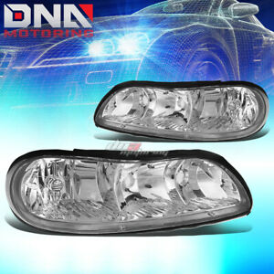 For Chevy Malibu Classic Chrome Housing Clear Corner Headlight Oe Replacement