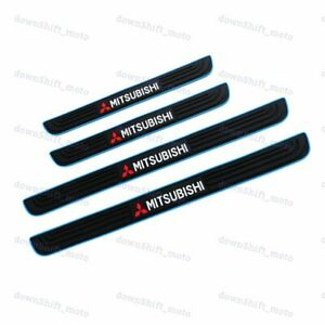 Blue black Rubber Car Door Scuff Sill Cover Panel Step Protector For Mitsubishi