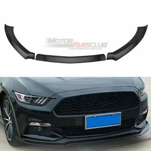 Black Front Bumper Lip Chin Spoiler Wing Body Kit For Ford Mustang 2015 2017