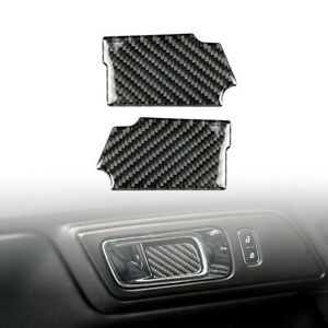 Carbon Fiber Door Handle Bowl Stickers Cover Trim For Ford Mustang 2015 2019