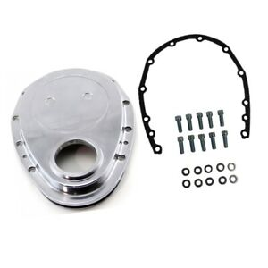 Polished Aluminum Timing Chain Cover For Sbc Small Block Chevy 283 305 327 350