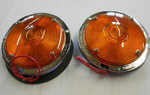 Yankee Vintage Nos Hd Chrome Flush Recessed Turn Signal Lights Made In Usa
