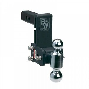 B W Ts10037b Tow And Stow Receiver Hitch 5 Drop 5 1 2 Rise Dual Ball