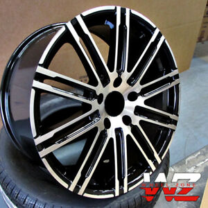 22 Gts Style Gloss Black Machined Face Wheels Fits Porsche Cayenne