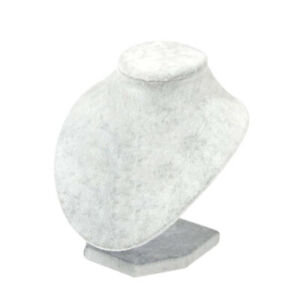 Durable Necklace Pendant Display Rack Mannequin Stand Stable Gray 15x15cm