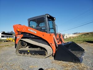 2014 Kubota Svl90 2 Compact Rubber Tracked Loader Construction Hydraulic Machine