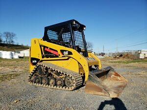10 Caterpillar 247b3 Compact Rubber Track Loader Construction Hydraulic Machine