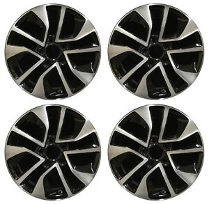 16 Honda Civic 2013 2014 2015 Factory Oem Rim Wheel 64054 Black Machined Set