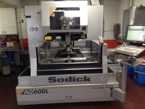 Price Drop Excellent Hardly Used Condition 2012 Sodick Aq600l Wire Edm Machine