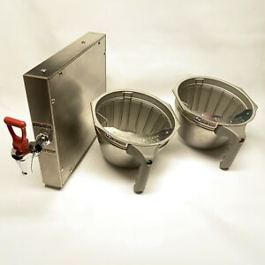 Bunn O Matic Coffee Brewer Basket Commercial Stainless Steel 3 Piece Lot