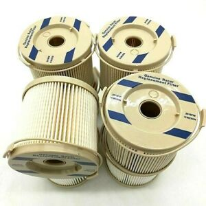 Fuel Filter 4pcs Separator Element Racor 2010 M 10 Micron Replacement For 500fg