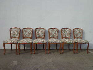 Dining Chairs 6 Balloon Louis Xvi Country French Provincial Neoclassical Wood