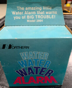 Vintage Northern Water Alarm Model 2664 Water Alarm Battery Operated new
