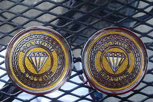 2 Cadillac Mercury Diamond Edition Roof Canvas Emblem With Double Tape Stick On