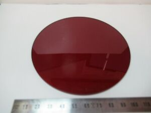 Optical Large Red Glass Filter Laser Optics As Pictured 83 b 11