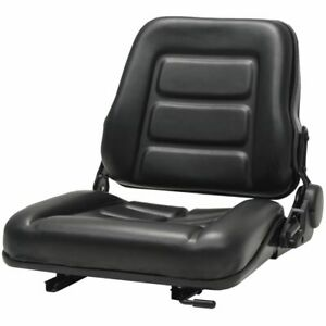 Forklift Tractor Seat With Adjustable Backrest Black