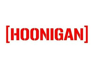 Hoonigan Vinyl Decal Sticker Window Jdm Ken Block Drift Car Window Laptop Iphone