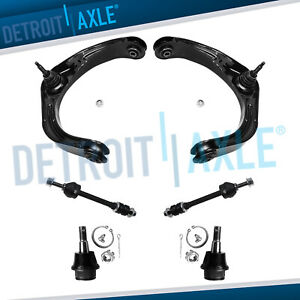 Front Upper Control Arms Lower Ball Joints Sway Bar For 06 08 Dodge Ram 1500 4wd