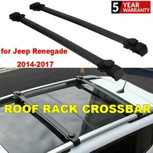 For Jeep Renegade 14 15 16 17 2pcs Top Roof Rack Cross Bars Cargo Carrier Holder