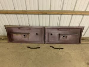 Dodge Truck Ramcharger Door Panels Both L R Manual Red Sun Faded 1985