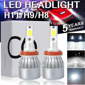 H8 H9 H11 100w 20000lm Led Headlight Bulbs Conversion Kit 6000k High Low Beam