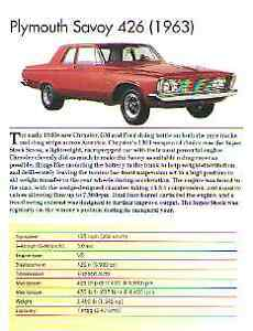 1963 Plymouth Super Stock Savoy 426 Article Must See