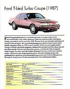 1987 Ford Thunderbird Turbo Coupe Article Must See
