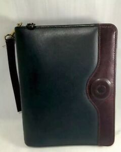 Franklin Covey Binder Planner 7 Rings Full Grain Leather With Calf Trim Usa