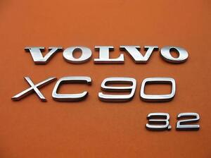 03 14 Volvo Xc90 3 2 Rear Gate Lid Chrome Emblem Logo Badge Sign Symbol A2047