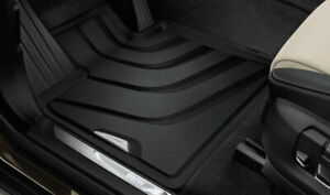 Genuine Front Black Rubber All Weather Floor Mats Set For Bmw F15 F16 F86 E71