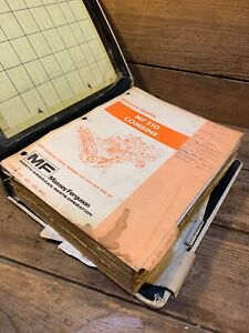 Massey Ferguson 510 Combine Parts Book Thick Manual Shop Binder Tractor Used Old