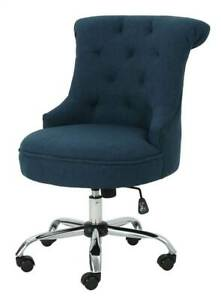 Office Fabric Desk Chair In Navy Blue id 3843349