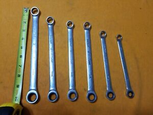 1 Set Of 6 Matco Retchet Wrenches 12 Points Close End 3 Sae And 3 M M Fs