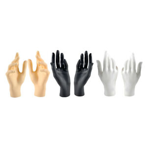 6pcs Female Mannequin Model Hands For Jewelry Display Mixed Color