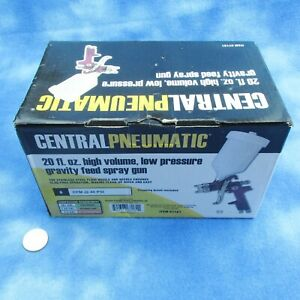 Central Pneumatic Harbor Freight 20 Oz High Volume Gravity Feed Spray Gun New