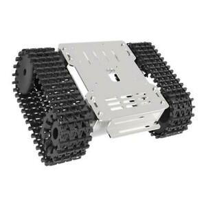 Alloy Smart Robot Tank Chassis Suspension System Rubber Track W Motor