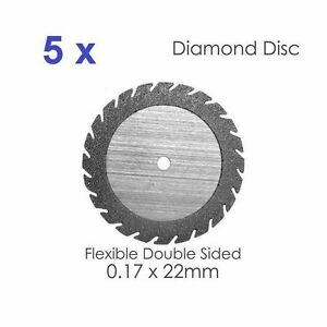 5 X Double Sided Diamond Disc For Dental Lab 0 17 X 22mm 5