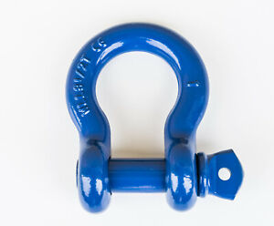 1 Blue D Ring Bow Shackle Screw Pin Clevis Rigging Towing 8 5ton 18500lb