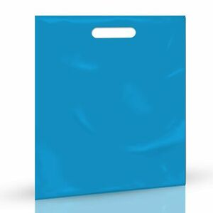 Blue Merchandise Plastic Shopping Bags 1000 Pack 9 X 12 With 1 25 Mil Thick