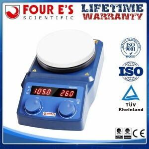 Magnetic Hot Plate Heating Stirrer Mixer 5 Inch Led Digital Lab Stand W ceramic