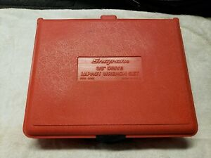Snap On Pb78 Red Plastic Hard Case Only 3 8 Drive Impact Wrench Case Clean Used